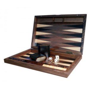Backgammon set open