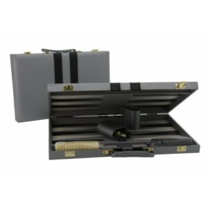 Backgammon Grey Vinyl Attache Case 38cm