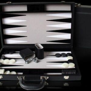 Dal Rossi Black PU Leather Backgammon 9