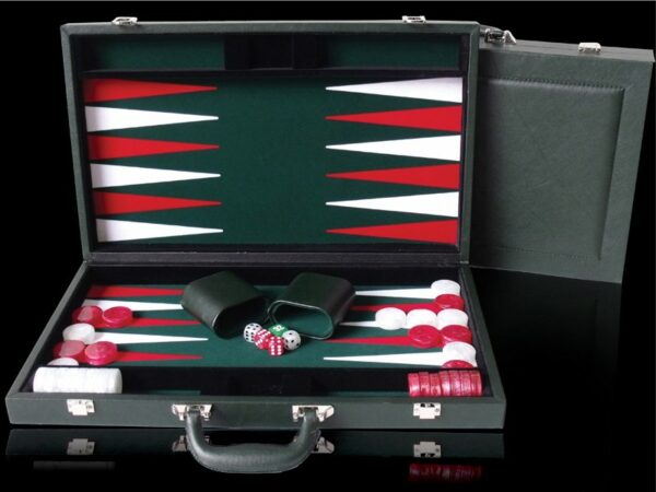 Green PU Leather Backgammon 15