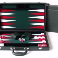 "Dal Rossi Green Backgammon 18"" PU Leather"